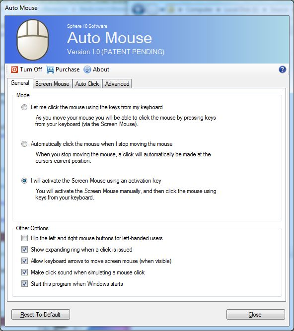 Auto Mouse – Sphere 10 Software